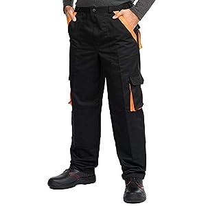 Pantaloni da Lavoro Uomo Multitasche Tuta da Lavoro Uomo Blu Nero Taglie Grandi S-3XL Salopette da Lavoro