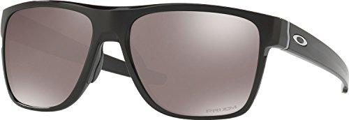 Oakley Men's Crossrange Xl Polarized Iridium Square Sunglasses, Polished Black w/Prizm Black Polarized, 58 - Xl Oakley