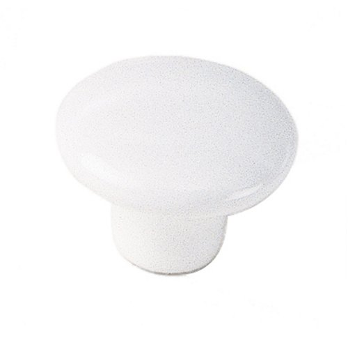 /2-Inch Diameter Ceramic Knob, White (Laurey Porcelain Knobs)