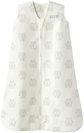 HALO Sleepsack Wearable Blanket Micro Fleece - Owls Cream, Size Med
