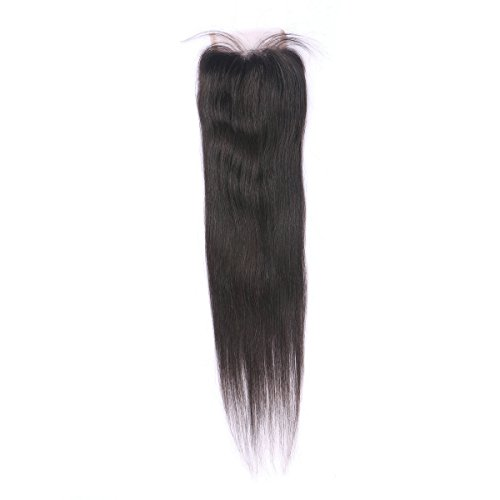 Miss diva Free Part 18 Inch Closure Straight Virgin Brazilian Hair 130% Density Lace Closure Natural Hair Color Soft and - Best Shorts Tri For Men