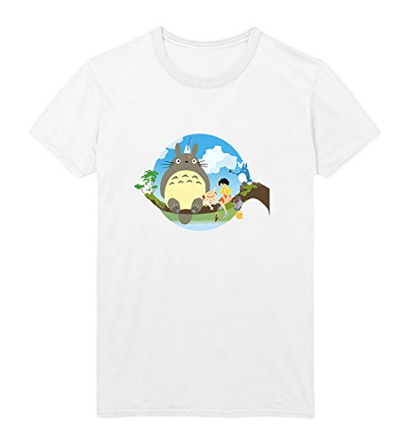 Totoro Characters Sitting On The Tree Branch My Neighbor Black T-Shirt MD (Totoro Neighbor Shirt My)