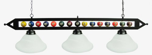 Glass Pool Table Light Lamp - 2