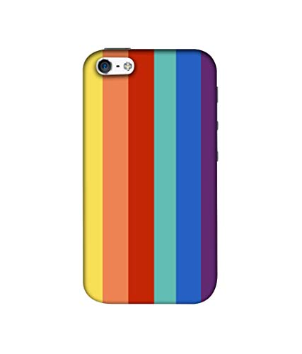 Casotec Rainbow Colors Design 3D Printed Hard Back Case Cover for Apple iPhone 5 / 5S