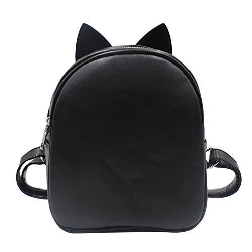 (Women Girls Fashion Shoulder Bag Different Style Rucksack PU Leather Travel Mini Bag Cute Ear Backpack Satchel)