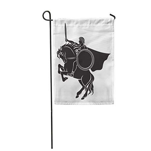 (Semtomn Garden Flag Julius Caesar on Horseback Painting War Ancient Antique Arena 28