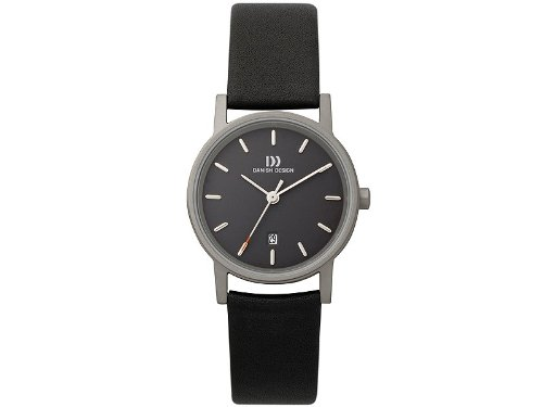 Danish Design IV13Q171 Titanium Case Black Dial Leather Band Ladie's Watch