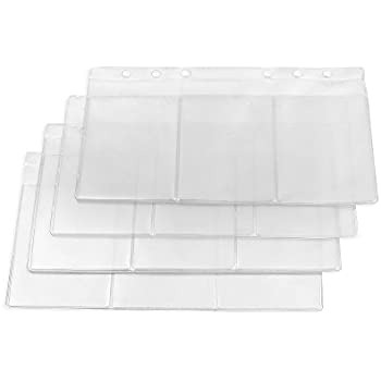 Amazon filofax a5 business card holder b343616 office products zhi jin 6 holes a5 clear refills binder pocket business card organiser holder storage bag zipper case bill pouch 6pcs of set a5 card holder reheart Image collections