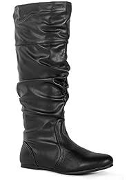 Women's Soft Vegan Slouchy Knee High Hidden Pocket Boots