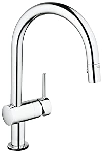 GROHE Robinet de Cuisine Minta Touch Douchette Extractible Starlight 31358000 (Import Allemagne)