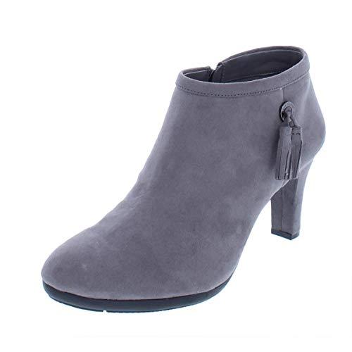 Anne Klein AK Sport Women's Silva Fabric Ankle Boot, Dark Grey, 10 M US
