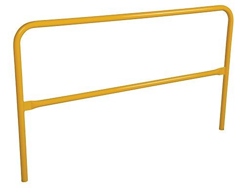 Vestil VDKR-6 Pipe Safety Railing with Powder Coat Yellow Finish, Steel, 72