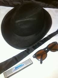 [RB Fashions Clothing Big Boys' Brother Gangster Mob Fancy Set Hat Tie Glasses One Size Fits All] (Blues Brothers Hat)