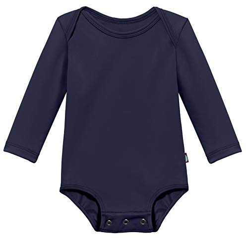 - Baby Boys' and Girls' Solid Rashguard Swimming Tee Shirt Rash Guard SPF Sun Protection for Summer Beach Pool and Play, Navy, 1824