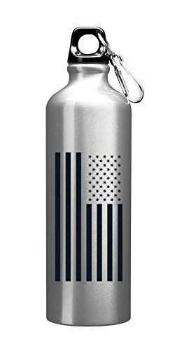 26oz USA American Flag Aluminum Sports Bottle Water Bottle with Carabiner Lid