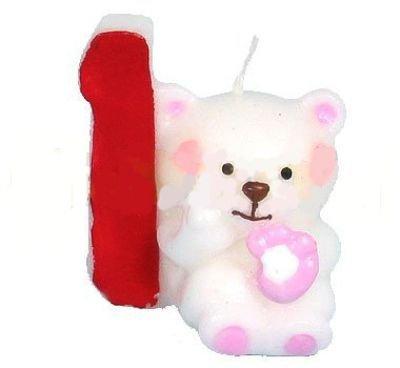 Compra número Vela 1 oso oso Vela Cumpleaños Fiesta en Amazon.es
