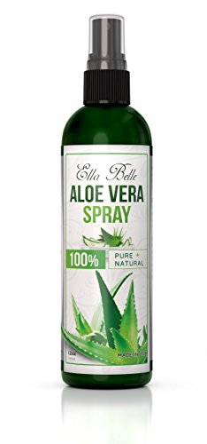 (Aloe Vera 100% Liquid Spray - Sunburn Relief and Skin Repair - Organic Large 12oz - For Skin, Face and Hair - Easy to Apply - Perfect for Chapped, Dry, or Su)