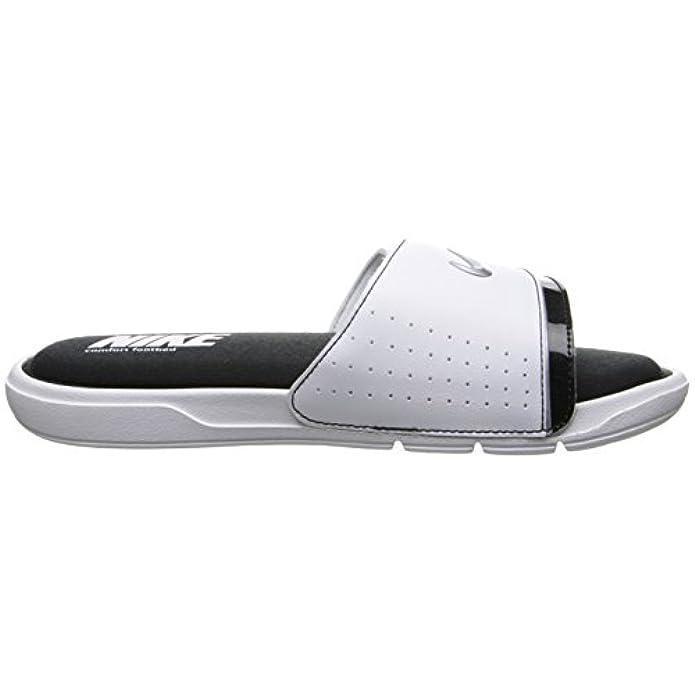 Nike Mens Comfort Slide 2 White Metallic-argento Nero Stile 415 205-100 Dimensioni 6 M Us
