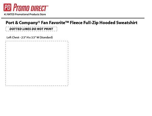 Fan Favorite Fleece Full-Zip Hooded Sweatshirt |36 Qty |34.98 Each|Promotional Sweatshirt with Your Logo |