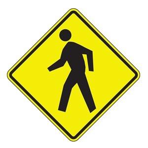 Traffic Sign, 30 x 30In, BK/YEL, SYM, W11-2
