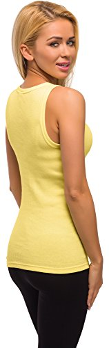 Merry Style Mujer Camiseta 3 Pack PD2X2 Amarillo