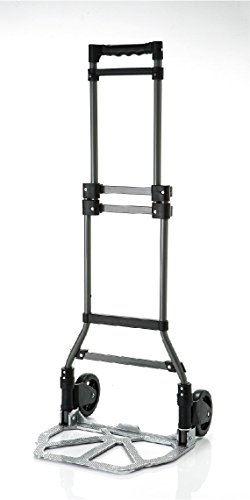 Folding-Hand-Truck-and-dolly-heavy-duty-Cart-Personal-200-lb-Capacity-Steel
