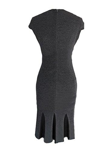 Travail De Bureau En Mode Bodycon Femmes Ca Crayon Sirène Robe Noire / Grise