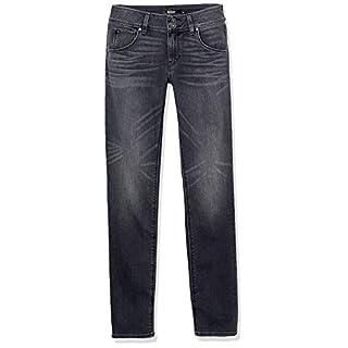 HUDSON Women's Collin Mid Rise Skinny Fit Flap Pocket Ankle Jean, Jet Fuel, 28