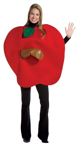 Apple with Worm Adult, Red, One Size Fits Most for $<!--$23.95-->