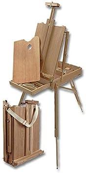 Wooden Artist Paint Palette w//Linen Shoulder Carry Strap Creative Mark Monet Full French Style Wood Art Easel /& 12 Sketchbox Beechwood?