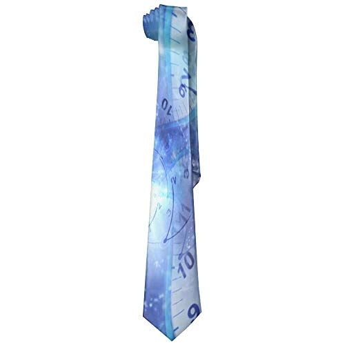 - HANBINGPO Men Tunnel Clocks Time Travel Polyester Silk Faldable Gentleman Tie Necktie Gift Box WhiteOne Size