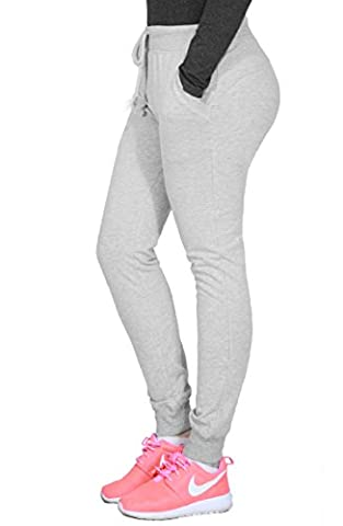 Comfortable Stretchy Drawstring Athletic Lounge Sweatpants For Womens MEDIUM GREY-65776