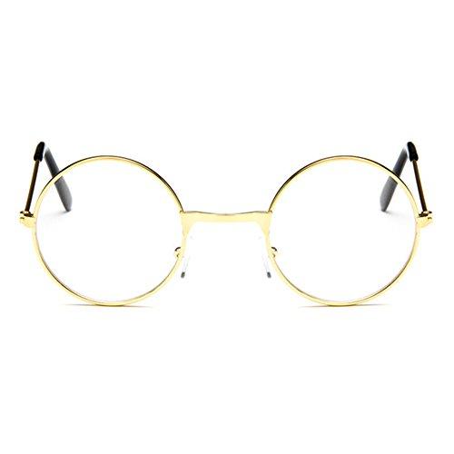 Cadre de lunettes rondes pour bébés - Toddler Infant Kids Children Eyeglasses Clear Lens Geek / Nerd Retro Reading Eyewear pour les filles Garçons - Juleya Or