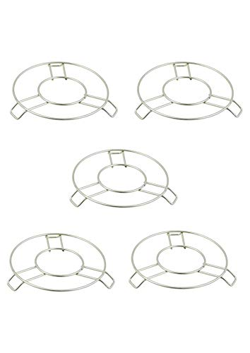 TIARA – Stainless Steel Round Table Ring Set, Hot Pot Stand, Trivet, Set of 5