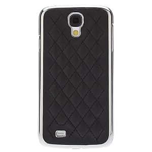 ZXM-Negro Rejilla Caso duro del patrón para Samsung i9500 Galaxy S4