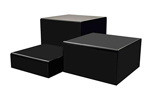 Marketing Holders Cube Display Nesting Risers Showcase Collectables Pedestald for Trinkets Figurines Trophy Dolls Hollow Bottoms Acrylic Black Pack of 3 by Marketing Holders (Image #8)