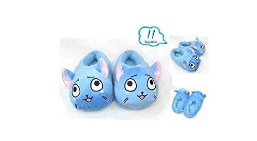 Fairy Tail Happy Blue Cat Plush Slipper