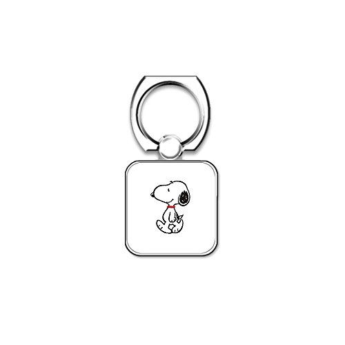 (LookSeven Snoopy Pattern Cell Phone Finger Holder,Universal Smartphone Rotatable Ring Grip Stand for Cell Phone,iPad and Tablets #04)
