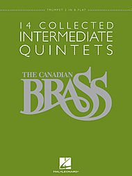 Hal Leonard The Canadian Brass: 14 Collected Intermediate Quintets - Trumpet 2 - Brass Quintet