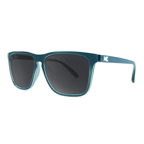Knockaround Fast Lanes Polarized Sunglasses With Teal Frames/Black Lenses]()