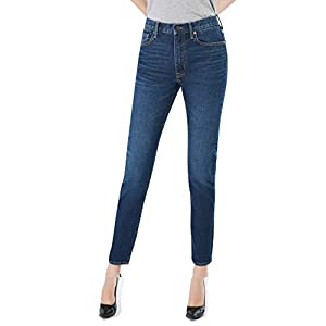 D-ID Women's Tapered Jeans Firm High Waisted Boyfriend Jean Wedgie fit Jean 257