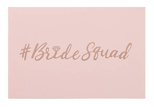 36-Pack Bride Squad Cards - Bridesmaid Proposal Set for Weddings, Bridal Showers, Maid of Honor Invitations with Envelopes, Pink, 4 x 6 inches
