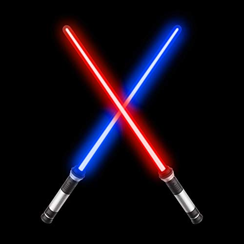 (Sugoiti Light Up Laser Sword,Upgrade 2-in-1 LED (7 Colors) FX Dual Saber with Sound (Motion Sensitive) for Warriors and Galaxy War Fighters Stocking Idea, Xmas Presents)