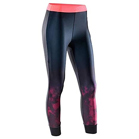 0bd6e928cf51 Domyos 500 Women s 7 8 Cardio Fitness Leggings - Black Pink Print (2XL