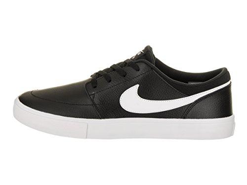 Nike Hommes Sb Portmore Ii Solaire Prm Skate Chaussure Noir / Blanc