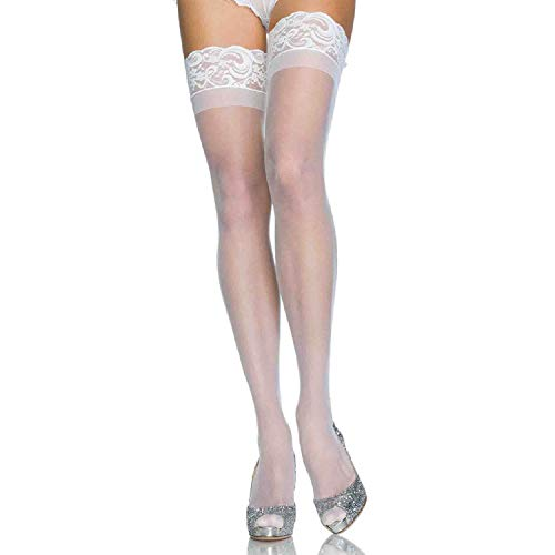 Stay Up Thigh High Adult (Color: White Size:90-160 lbs)