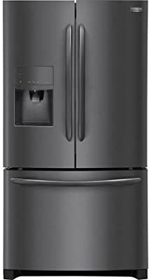 """Frigidaire FGHF2367TD Gallery Series 36"""" Counter Depth French Door Refrigerator with 21.9 cu. ft. Total Capacity, in Black Stainless Steel"""