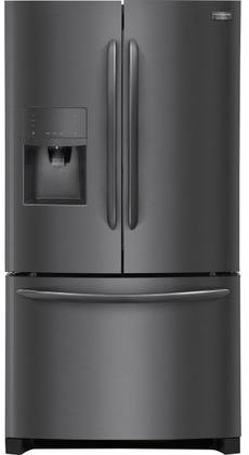 Frigidaire FGHF2367TD Gallery Series 36' Counter Depth French Door Refrigerator with 21.9 cu. ft. Total Capacity, in Black Stainless Steel