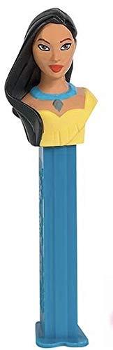 Princess Pocahontas Pez Dispenser in Cello Bag with 2 Rolls Candy Refills