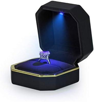 山の奥 指輪ケース 指輪を照らすLEDライト付 サプライズ プレゼント 大切な指輪の保管に ジュエリーケース